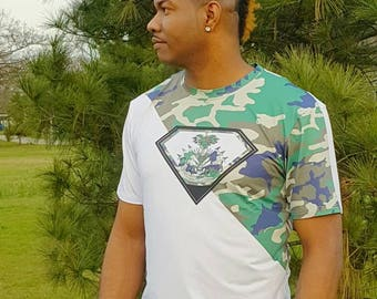 Men's Haiti Army Fatigue T-shirt