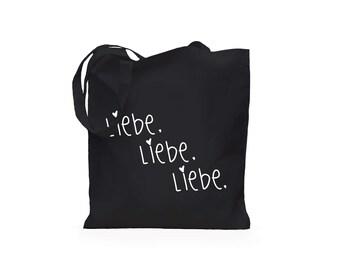 Jute bag love love love