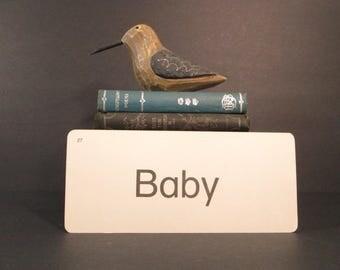 Vintage Flash Card Baby