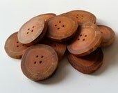 Natural wooden buttons, 4.5cm-5cm Larch branch buttons, wood buttons, large buttons