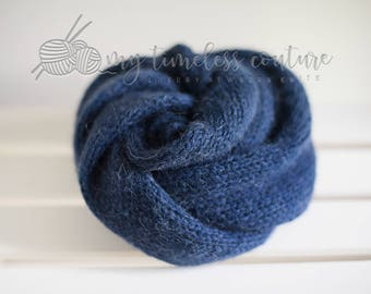 Newborn Alpaca Knit Wrap, Newborn Photography Prop, Several Color Options