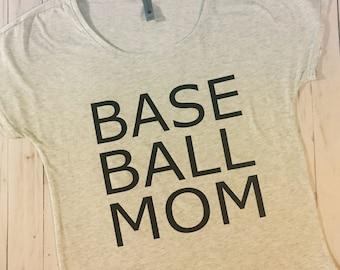 Baseball Mom  Women's shirt- Heather White