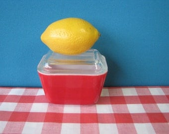 Mid Century Pyrex Refrigerator Dish - Pristine Condition - 501 - Ribbed Glass Lid  - Vintage 1950's