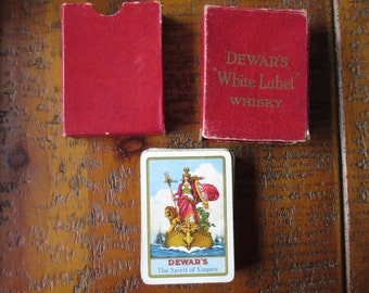 Antique DEWARS whiskey WHITE LABEL The Spirit of the Empire playing cards deck in original box