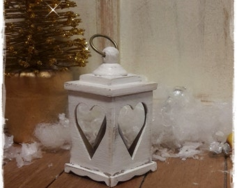 Lantern white with heart medium