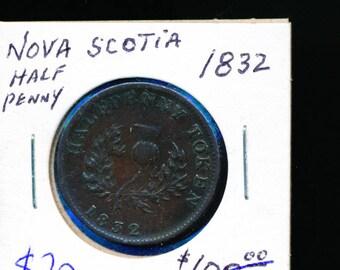 Nova Scotia 1832 Half Penny