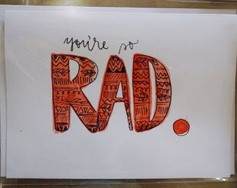 You're So Rad Watercolor Stationery Set