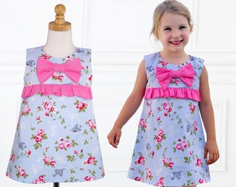 Girls Dress Pattern, Dress Sewing Pattern, PDF Sewing Pattern, Childrens Pattern, A-line Dress Pattern, Dress Pattern for Girls LUCY