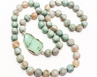 Agate and Amazonite Necklace
