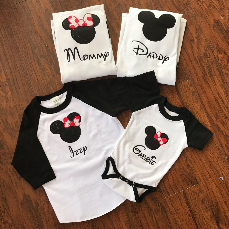 Mickey Mouse Shirts For Family Disney Baseball Shirts