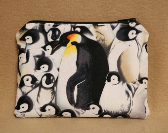 One Snack Sack, Reusable Lunch Bags, Waste-Free Lunch, Machine Washable, Penguins, Back to School, School Lunch, item #SS43