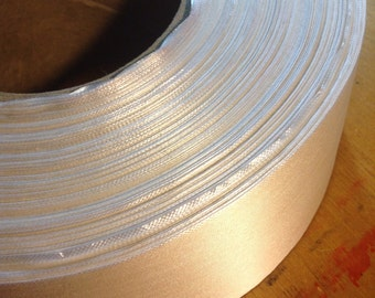 White Satin Ribbon Spool, 2.5 inches wide