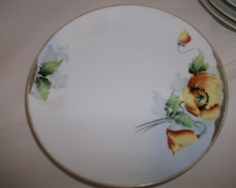 4 Nippon Desert Plates Yellow Flowers