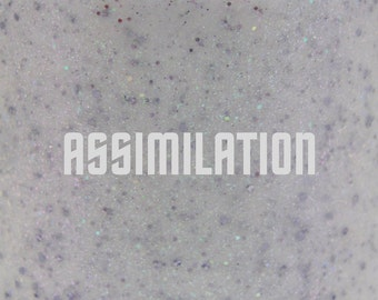"Assimilation glitter nail polish 15 mL (.5 oz) from the ""Trek"" Collection"