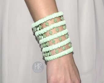 Bracelet  wallet Secret . Wide Wallet on your wrist . Green bracelet . Bracelet for money . Wrist Wallet