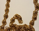 Reserved Vintage Chunky Gold Tone Fancy Link Necklace