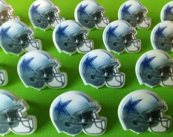 24 DALLAS COWBOYS NFL helmet cupcake rings picks cake toppers, football fan birthday, tailgate party, fall sports super bowl, team bachelor