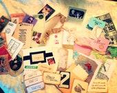 50 paper epherma, journal supplies, Nostalgia Epherma, vintage style supplies,scrapbook supplies