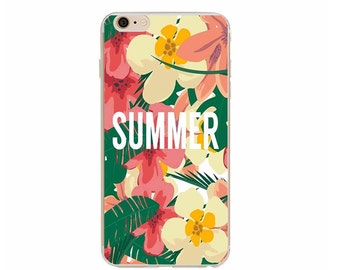 SUMMER phone case // iPhone 6 / 6s - banana leaf flowers