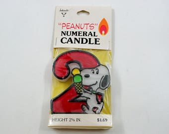 Peanuts Snoopy Numeral Two Candle