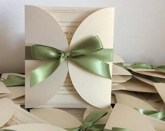 Handmade wedding invitations/ Elegant wedding invitations