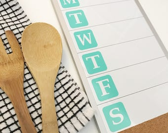 Weekly Meal Planning Board, Meal Planning, Dry Erase Board