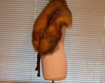 Luxurious Red Fox 'I.R. Fox' of New York Stole / Capelet / Fur Collar