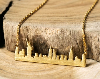 New York Pendant Necklace, Cityscape Necklace, New York City Necklace, City Necklace, New York Skyline Necklace, Skyline Necklace N333KG