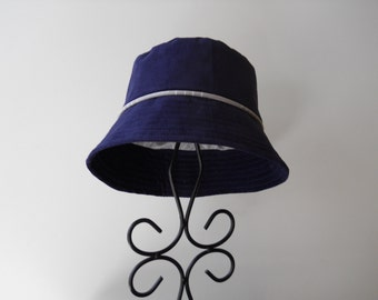 Boys Bucket Hat in Organic Blue Corduroy, Sizes 6 Months - 4T