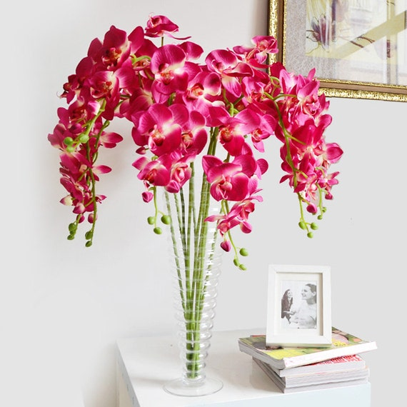Items similar to orchid centerpieces flower fuschia