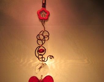 Red Heart Suncatcher