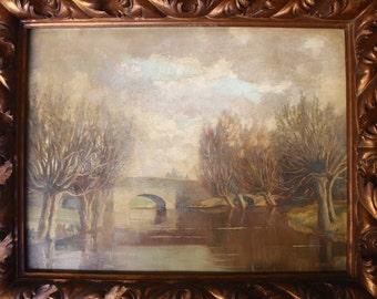 Jacob Meyer de Haan Isaac Meijer de Haan Original Antique Dutch Post Impressionist European Landscape Oil Painting