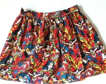 Wonder Woman Skirt. Every Day Cos Play. DC Super Hero Heroine. Comic
