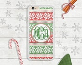 SALE - iPhone 6s, 6s Plus, iPhone 5, iPhone SE, Samsung Galaxy S7, S6, S6 Edge Phone Case, Green & Red Christmas, Christmas Gift (407)