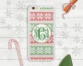 VENTE - iPhone 6 s, 6 s Plus, iPhone 5, iPhone SE, Samsung Galaxy S7, S6, S6 bord housse de portable, vert et rouge de Noël, cadeau de Noël (407)