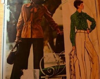 Vogue 1010, size 12.  Vogue Paris Original Emanuel Ungaro, Jacket and Blouse pattern only