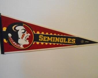 1980's Florida State Seminoles Football Pennant