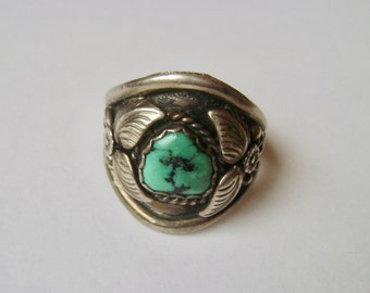 fabulous chunky Navajo turquoise ring, size 13