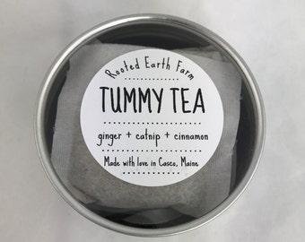 Tummy Tea - 10 tea bags - Morning Sickness - Upset Stomach - Nausea - Digestion - Ginger Tea - Pregnancy Tea - Herbal Tea - Organic Tea