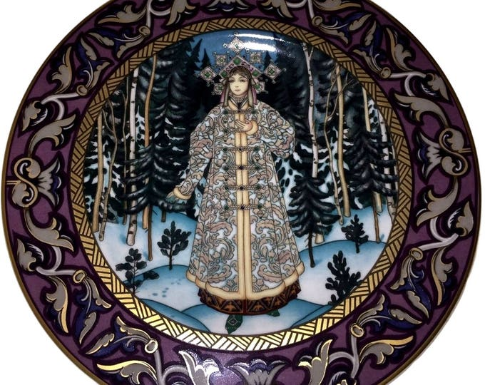HEINRICH Villeroy And Boch The Snow Maiden Collector Plate Russian Fairy Tales, Heinrich Germany