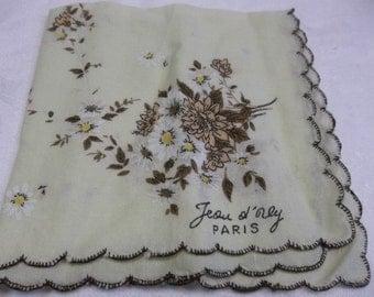 Vintage Paris Handkerchief, S