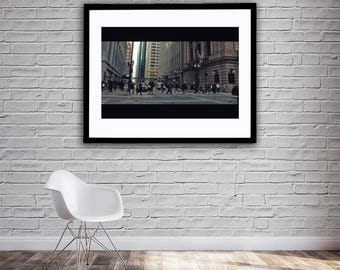 Chicago Avenue - Chicago - Road - Street Photography - Digital DOWNLOAD