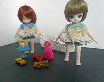 Blue dress set for AI BJD