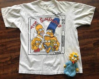 Retro The Simpsons tee shirt - Newstar California tee - sz M