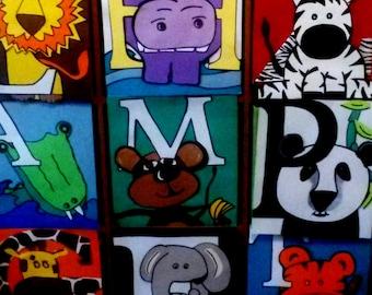 Animal Alphabet storage cubes