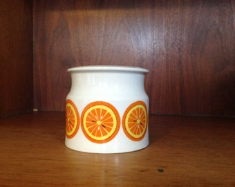 Arabia Finland Orange Jam Pot