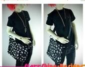 Sale 20% Off BJD MSD 1/4 Doll Accessories - Halloween Skulls Messenger Bag - Last Chance