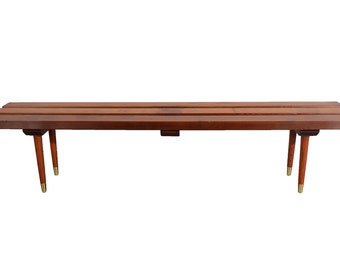 Slat Bench Cocktail Table Redwood Bench Mid Century Modern Nelson Style