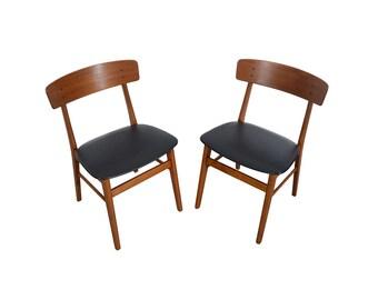 Four Teak Dining Chairs Farstrup  Danish Modern