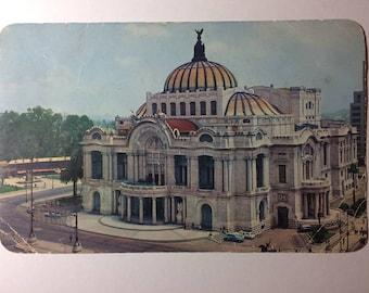 Palacio de Bellas Artes Cristacolor postcard, photo postcards, souvenir travel ephemera